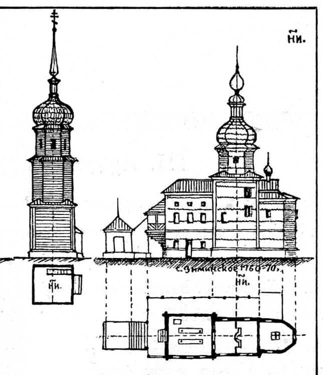 Церковь Троицы Живоначальной (старая), Зима