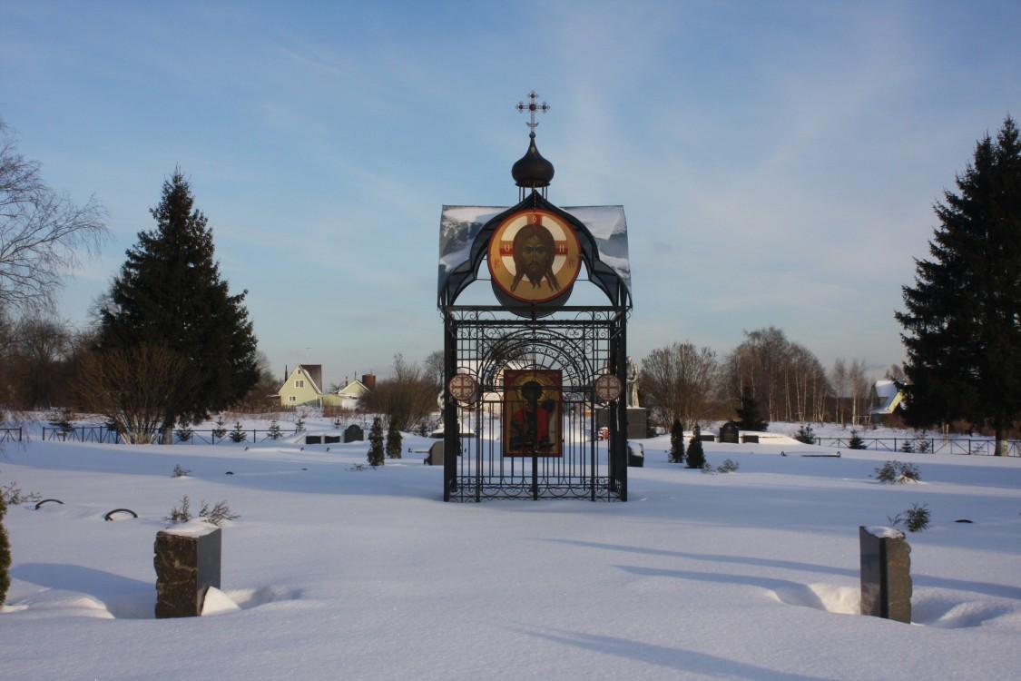Московская область, Наро-Фоминский городской округ, Смолино. Часовня Георгия Победоносца, фотография. общий вид в ландшафте