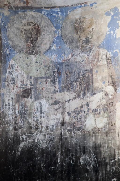 Грузия, Кахетия, Старая Шуамта. Монастырь Дзвели Шуамта. Большая купольная церковь, фотография. интерьер и убранство, остатки фресок