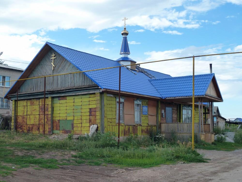 Самарская область, Похвистневский район и г. Похвистнево, Среднее Аверкино. Церковь Троицы Живоначальной, фотография. общий вид в ландшафте