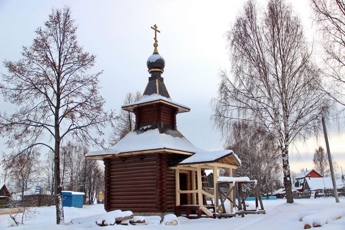 Ярославская область, Борисоглебский район, Юркино. Неизвестная часовня, фотография. фасады