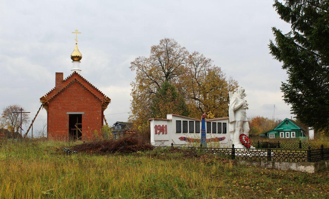 Ивановская область, Гаврилово-Посадский район, Бережок. Церковь Николая Чудотворца, фотография. общий вид в ландшафте