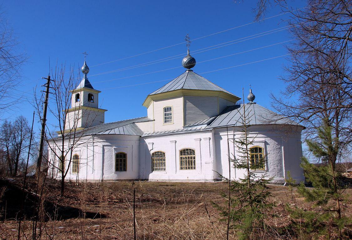 Костромская область, Шарьинский район, Рождественское. Церковь Рождества Христова, фотография. фасады