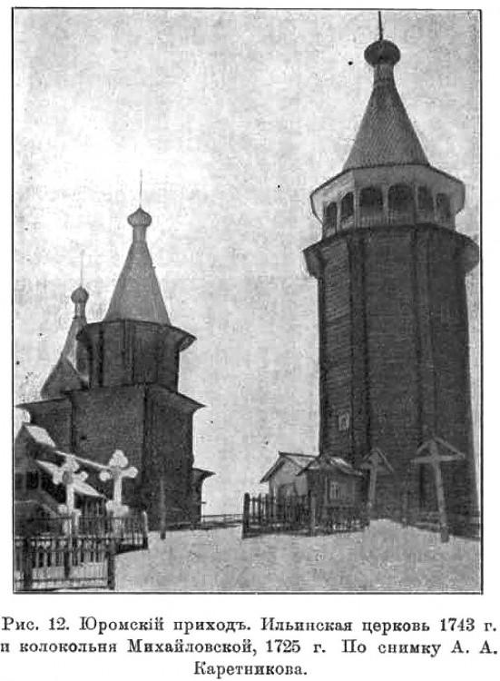 Колокольня Юромо-Великодворского погоста, Юрома