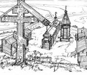 Неизвестная часовня - Омелино (Цилемский скит), урочище - Усть-Цилемский район - Республика Коми