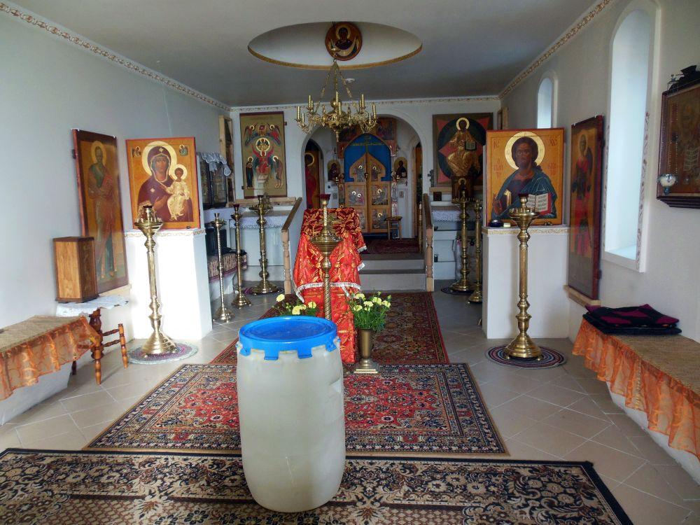 Латвия, Екабпилс, город, Екабпилс. Церковь Аввакума протопопа, фотография. интерьер и убранство, Общий вид интерьера
