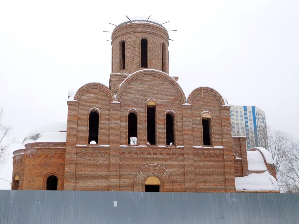 Самарская область, Самара, город, Волгарь. Церковь Богоявления Господня (строящаяся), фотография.