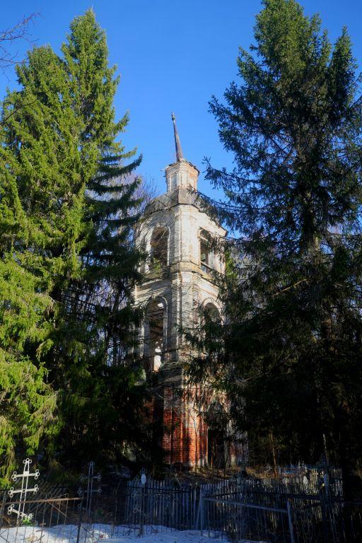 Костромская область, Чухломский район, Глазуново, урочище. Церковь Спаса Преображения, фотография. общий вид в ландшафте