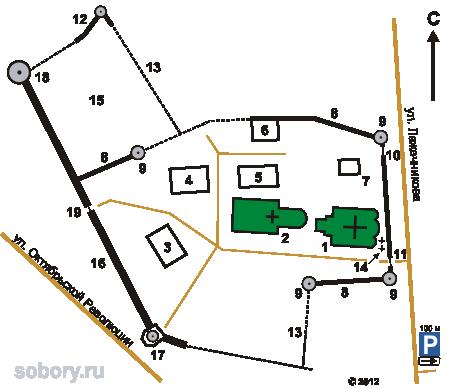 План  Брусенского Успенского монастыря,Коломна, Московская область