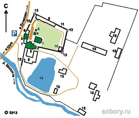 План Николо-Шартомского монастыря во Введенье