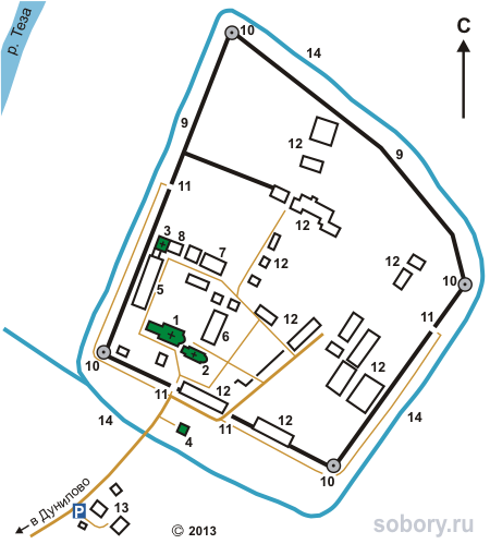 План Успенского монастыря в Дунилово