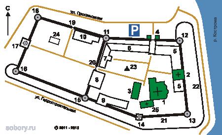 План Ипатьевского монастыря, Кострома