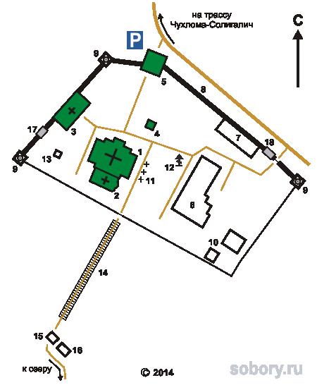 План Авраамиево-Городецкого монастыря
