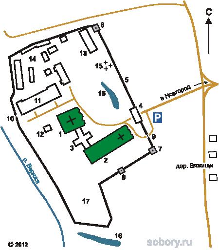План Николо-Вяжищского монастыря
