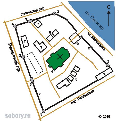 План Знаменского монастыря в Осташкове
