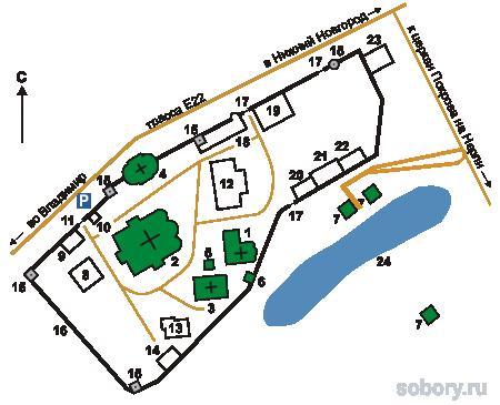 План  Свято-Боголюбского женского монастыря, Боголюбово