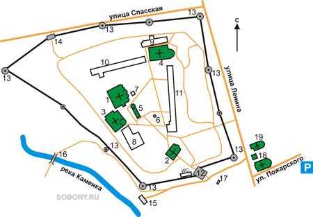 План Спасо-Евфимиевского монастыря, Суздаль