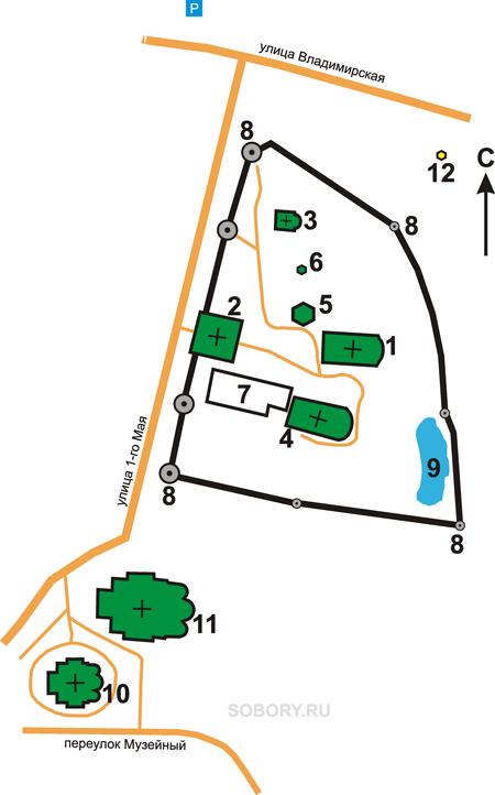 План Михаило-Архангельского монастыря, Юрьев-Польский