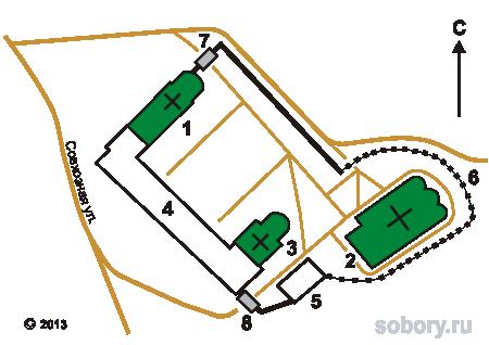 План Свято-Успенского Косьмина монастыря