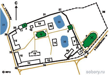 План Стефано-Махрищского монастыря