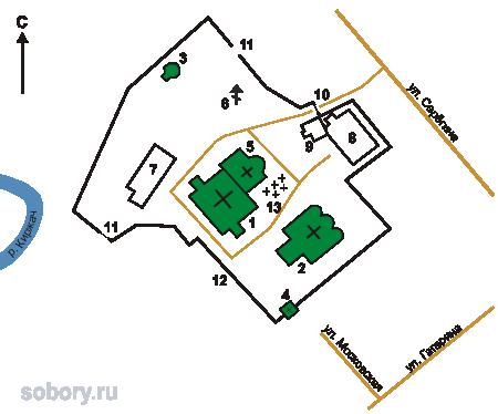 План Благовещенского женского монастыря,Киржач
