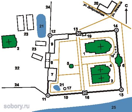 План  Спасо-Яковлевского Дмитриева мужского монастыря, Ростов,Ярославская область