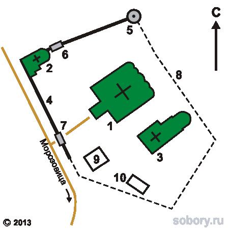 План Троице-Гледенского монастыря