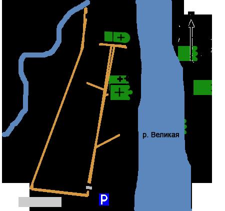 План Мирожского монастыря, Псков