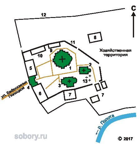 План Спасо-Евфросиниевского монастыря
