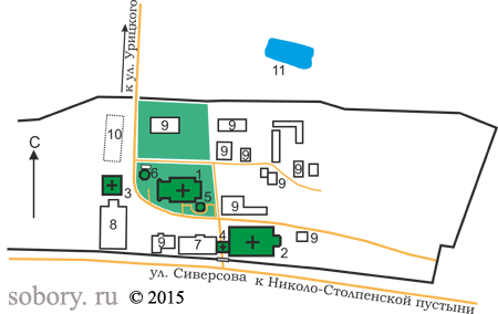 План Казанского монастыря, Тверская область