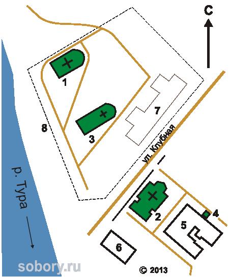 План Покровского монастыря в Верхотурье