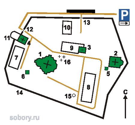 План Выдубицкого монастыря,Украина