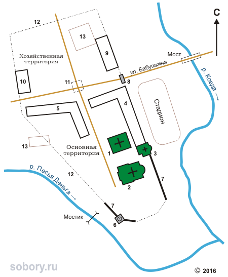 План Спасо-Суморина монастыря в Тотьме