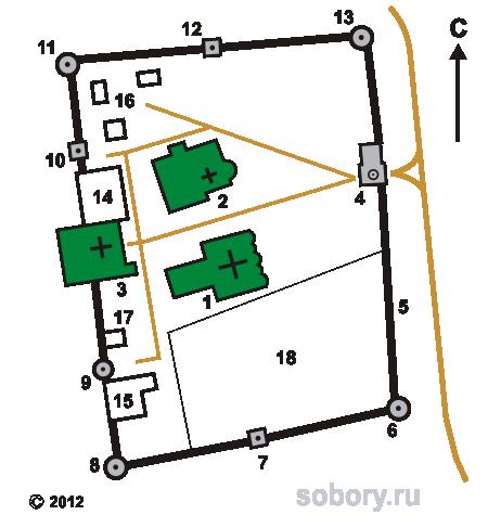 План Николо-Улейминского монастыря