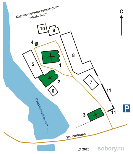 План Введенского монастыря в Тихвине
