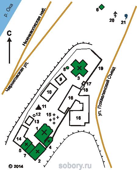 План Благовещенского монастыря в Нижнем Новгороде