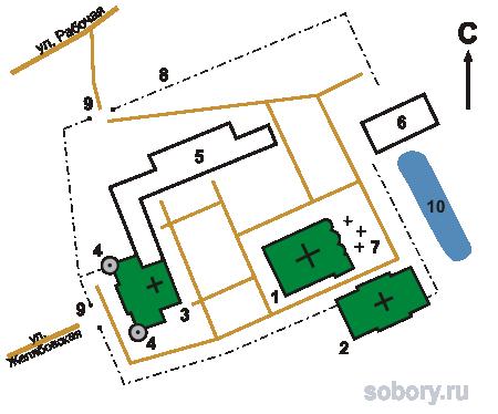 План Авраамиевского Богоявленского монастыря, Ярославская область