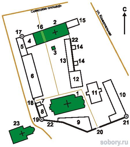 План Рождественского монастыря, Ростов