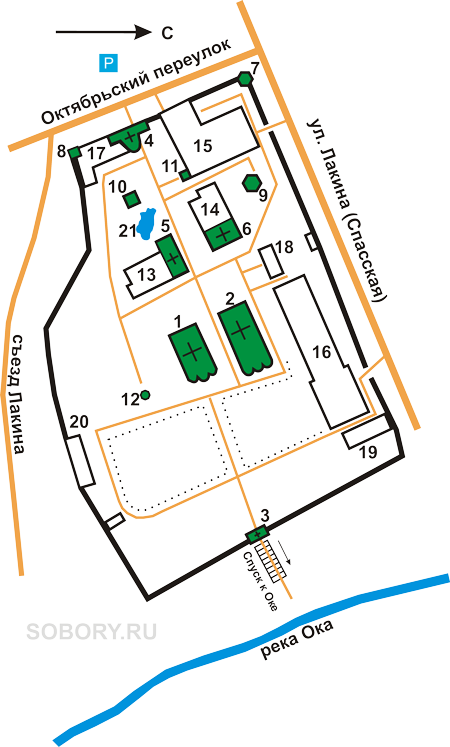План Спасского монастыря,Муром
