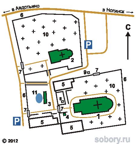 План архитектурного комплекса,Московская область