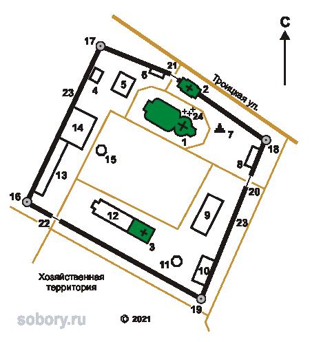 План Аносина Борисоглебского монастыря