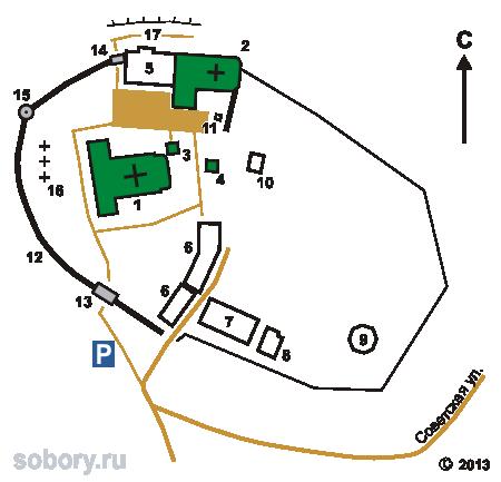 План Николо-Троицкого монастыря в Гороховце
