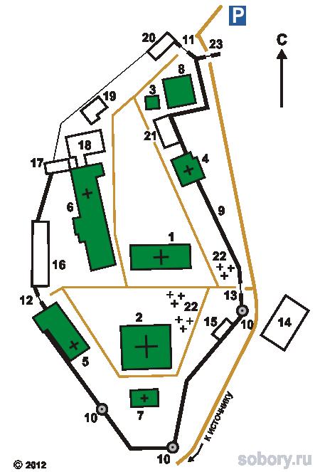 План Иоанно-Богословского  монастыря,Пощупово,Рязанская область