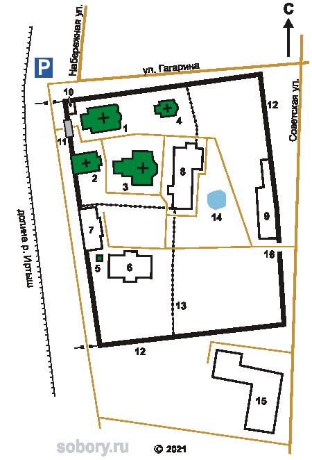 План Абалакского Знаменского монастыря