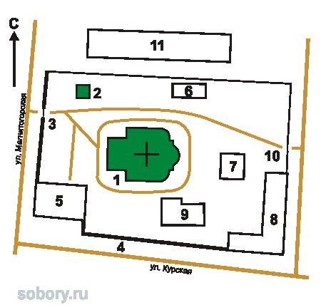 План Иоанно-Предтеченского  монастыря,Астрахань