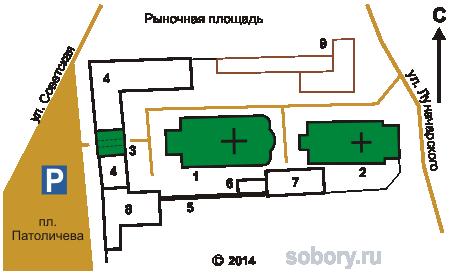 План Сретенского монастыря в Гороховце