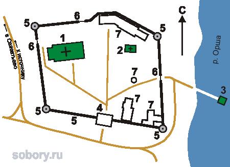 План Вознесенского Оршина монастыря, Орша