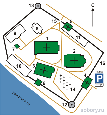 План Раифский Богородицкий монастыря, Республика Татарстан