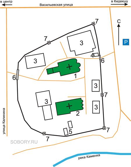 План Васильевского монастыря, Суздаль