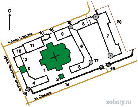 План  Свято-Введенского женского монастыря,Иваново